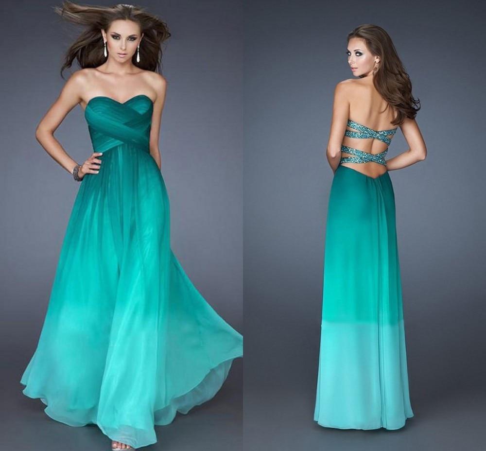 Teal Peacock Bridesmaid Dresses