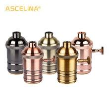 ASCELINA Vintage lamba tabanı montaj E27 soket tabanı DIY led lamba tutucu aydınlatma aksesuarları avizeler için ampul soketi