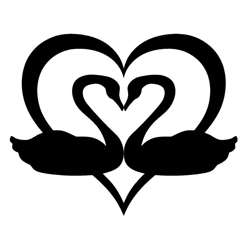 Resultado de imagen para corazon cisnes