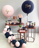 75pcs Gender Reveal Party Latex Balloons Black light Pink big balloons Boy or Girl Reveal Baby Shower Decoration ballon