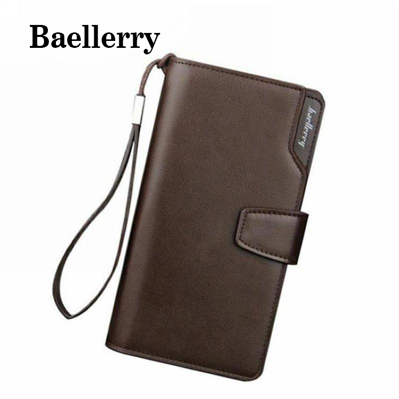 Baellerry 2017 Long Wallet Men Clutch Design Pu Leather Men Wallet Coin Pocket Card Holder Cash Purse Hand Bag Men Wallets VK127