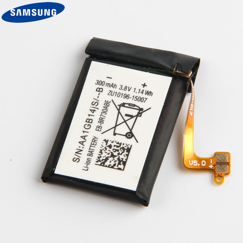 Original Samsung Battery EB BR730ABE For Samsung Gear S2 3G R730 SM R730A SM R730V SM R600 SM R730S SM R730T 300mAh in Mobile Phone Batteries from Cellphones Telecommunications
