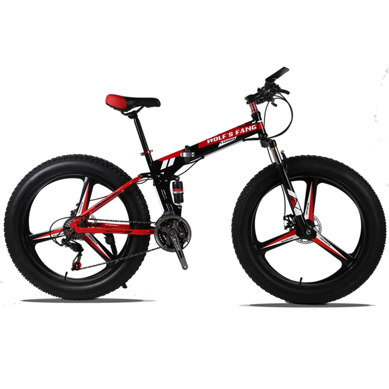 Mountain Bike 26x4.0 Folding Bicycle 24 speed road bike fat bike variable speed bike Front and Rear Mechanical Disc Brake 2018 anima 27 5 carbon mountain bike with slx aluminium wheels 33 speed hydraulic disc brake 650b mtb bicycle