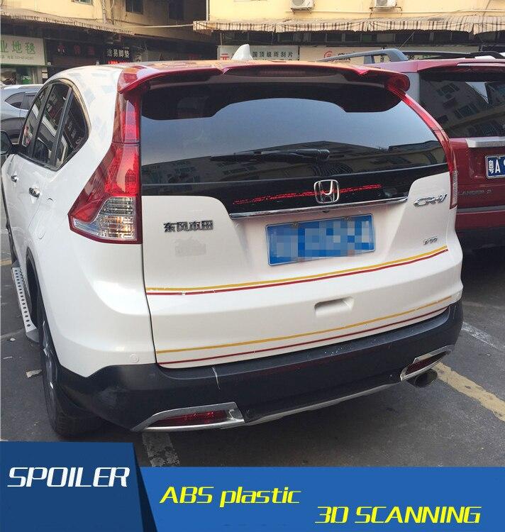 For Honda CRV Spoiler High Quality ABS Material Car Rear Wing  Primer Color Rear Spoiler Press The Tail For Honda CRV Spoiler D