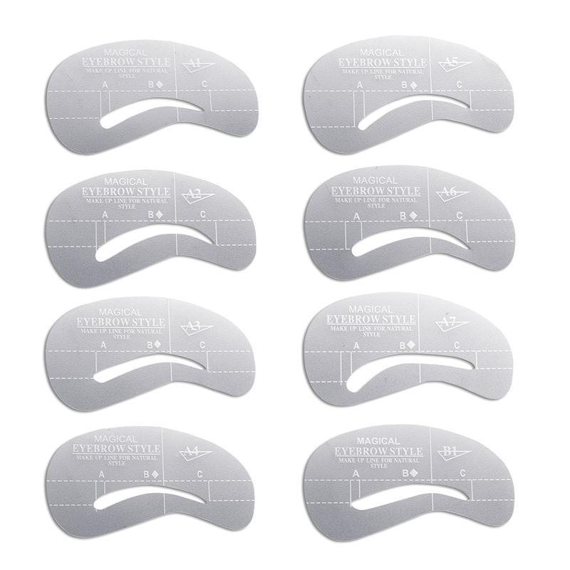 RUIMIO 24pcs Eyebrow Stencils Eye Brow Grooming Shaping Templates ...