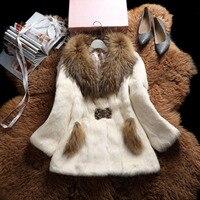 Real Fur Coats For Women New Rabbit Fur Coat Winter Autumn Brand Sale Fur With Raccoon Dog Fur Collar Outwear High Quality