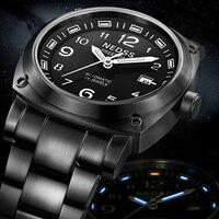 Известный бренд часы Swiss H3 Тритий Miyota автоматические часы Для мужчин спортивная Военная сапфир 5ATM водонепроницаемый мужской наручные часы