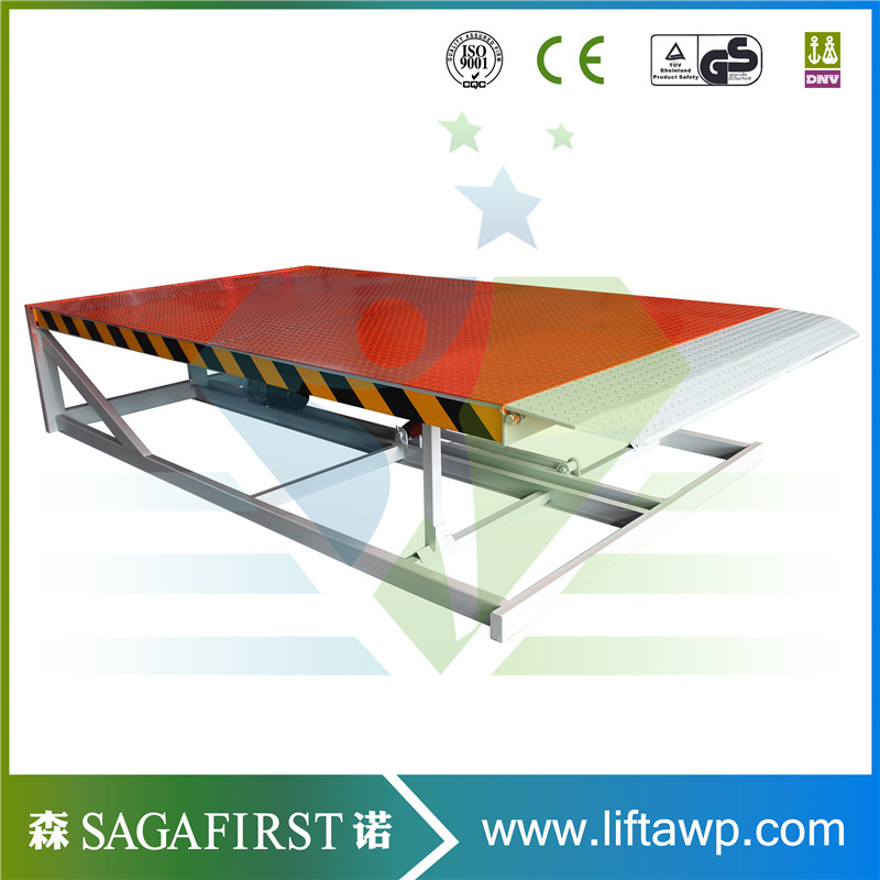 Stationary Hydraulic Manual Dock Ramp For Loading Container Heavy Truck