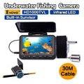 """Frete grátis! eyoyo f06-30mdvr 30 m 4.3 """"1000tvl câmera subaquática de pesca peixe finder dvr gravador de visão noturna"""