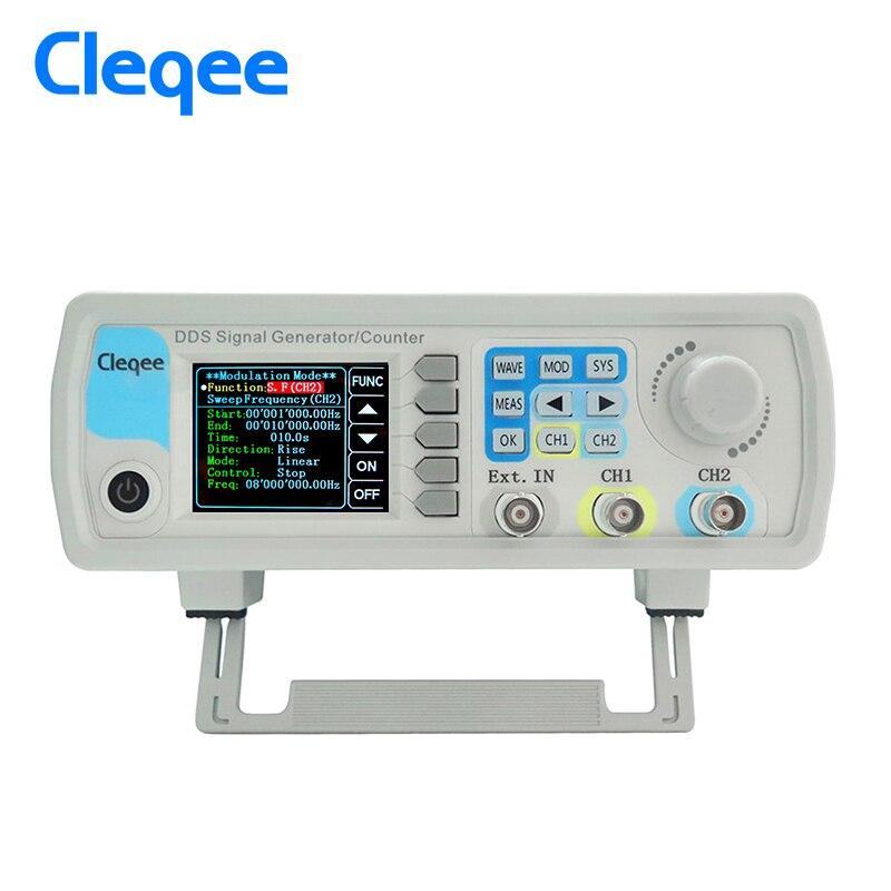 CleqeeJDS6600-60M 60MHZ Gerador de Sinal de Controle Dual-channel Digital medidor de freqüência Gerador de Sinal Função DDS Arbitrária