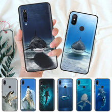 Black Silicone Case Bag Cover for Xiaomi Mi A1 A2 8 Lite Play Redmi Note 7 6 6A 5 Plus 4X Pro Poco F1 Ocean Whale Sharks Fish стоимость
