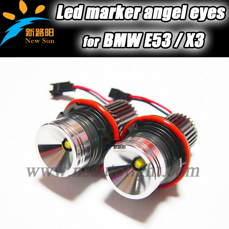 Newest Design CANBUS Error free E39 20W led angel eye X3 X5 E39,E53,E60,E61,E63,E64,E65,E83,E87 replacement Led marker angel eye
