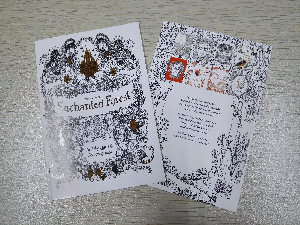 English Edition Enchanted Forest Coloring Book 16 Pages Secret Garden Styles For Adult Relieve Stress Painting Drawing Books