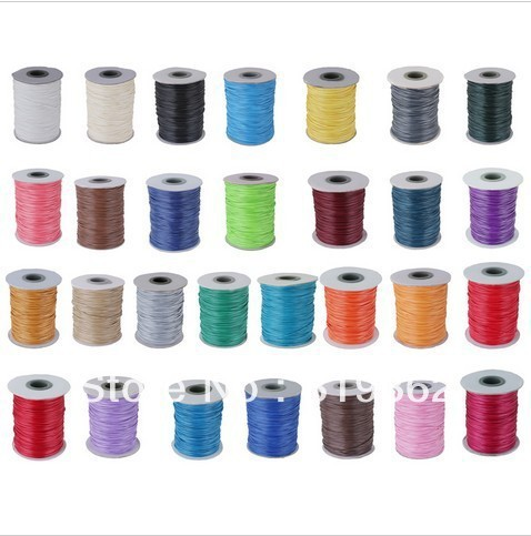 Free Shipping 1Roll =180M Waxed Cotton Cord 1MM /Jewelry Cord 10/color (w03147-w03155)