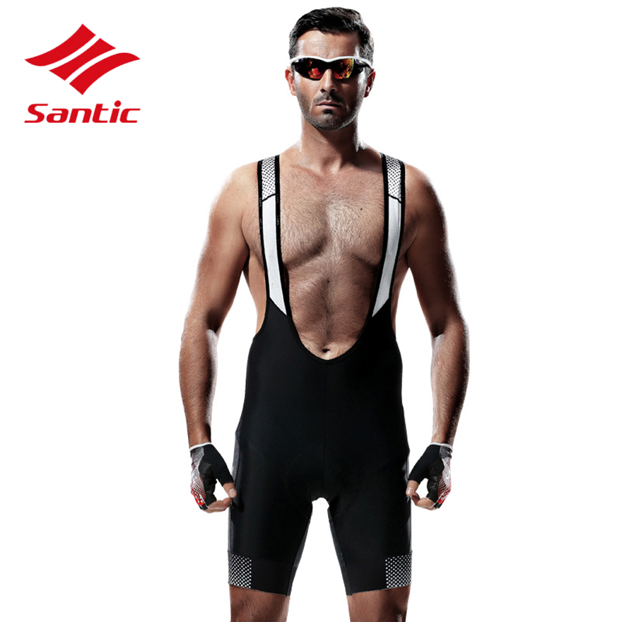 Santic Cycling Shorts Men Pro Gel Padded Quick Dry MTB Road Bike Bicycle Shorts Mountain Downhill Shorts Bermuda Ciclismo Black boi silica gel padded bicycle men shorts