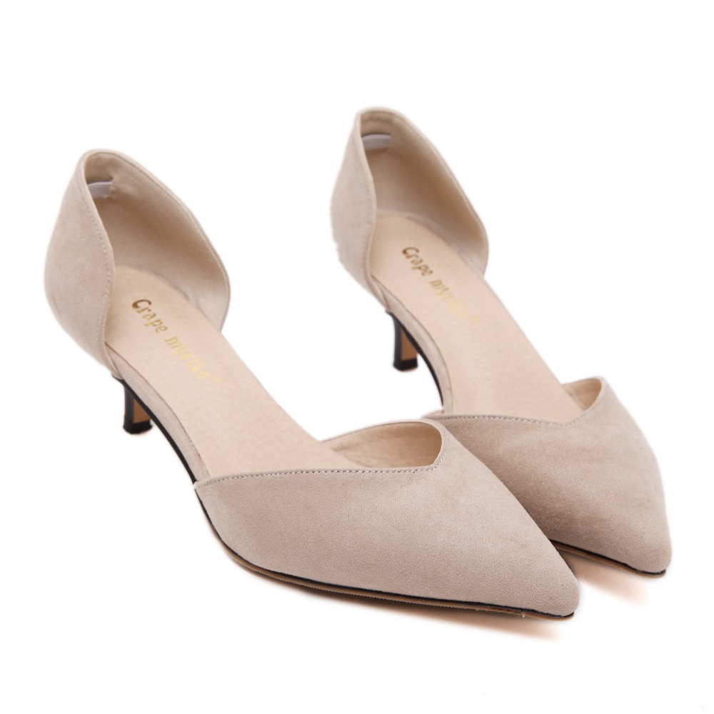 Nude low heel shoes - ChinaPrices.net