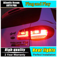 Car Styling LED Tail Lamp for VW Tiguan LED Taillights 2009 2012 Rear Light DRL+Turn Signal+Brake+Reverse auto Accessories led l