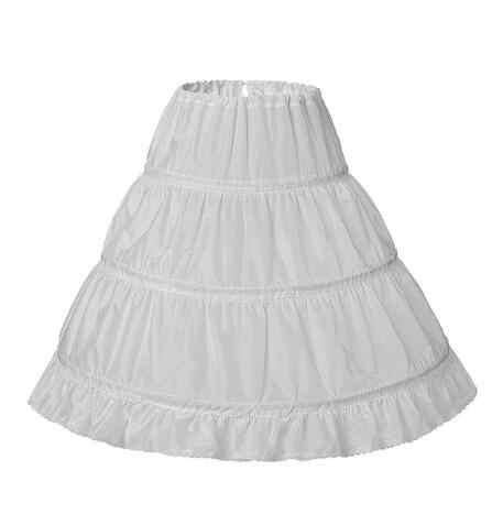 สีขาว 3 ห่วง Cancan เด็กชุดเจ้าสาว Petticoat Crinoline งานแต่งงานอุปกรณ์เสริมสำหรับชุดเดรสดอกไม้
