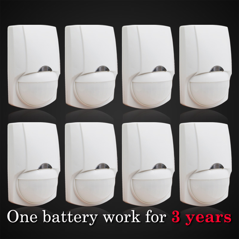 bilder für 1 batterie = arbeit 3 jahre, drahtlose passiive infrarot motion detektor, Sensor Alarm, 8 stücke enthalten, großhandel preis