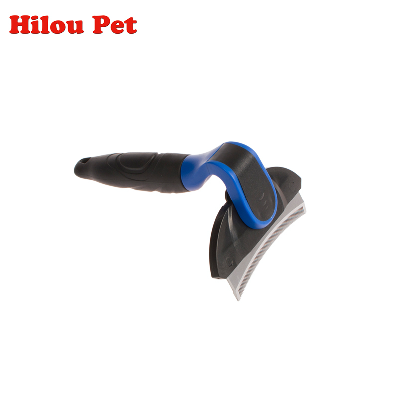 Pet Dog Stainless Steel Curved Blade Comb Grooming Brush Cat Hair Clipper Remove Float Hair Comb Pet Supplies