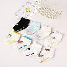 Hot! ! ! Cartoon Baby Boat Socks 100% Cotton Non-slip Floor Socks Newborn Comfort Socks Baby Accessories