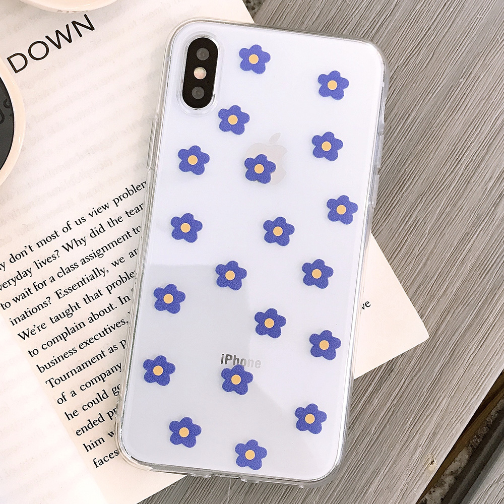 KIPX1117L_1_JONSNOW Transparent Flowers Pattern Phone Case for iPhone X XR XS Max 8 Plus 7 6P 6S Cases Soft Silicone Cover Capa Coque Fundas
