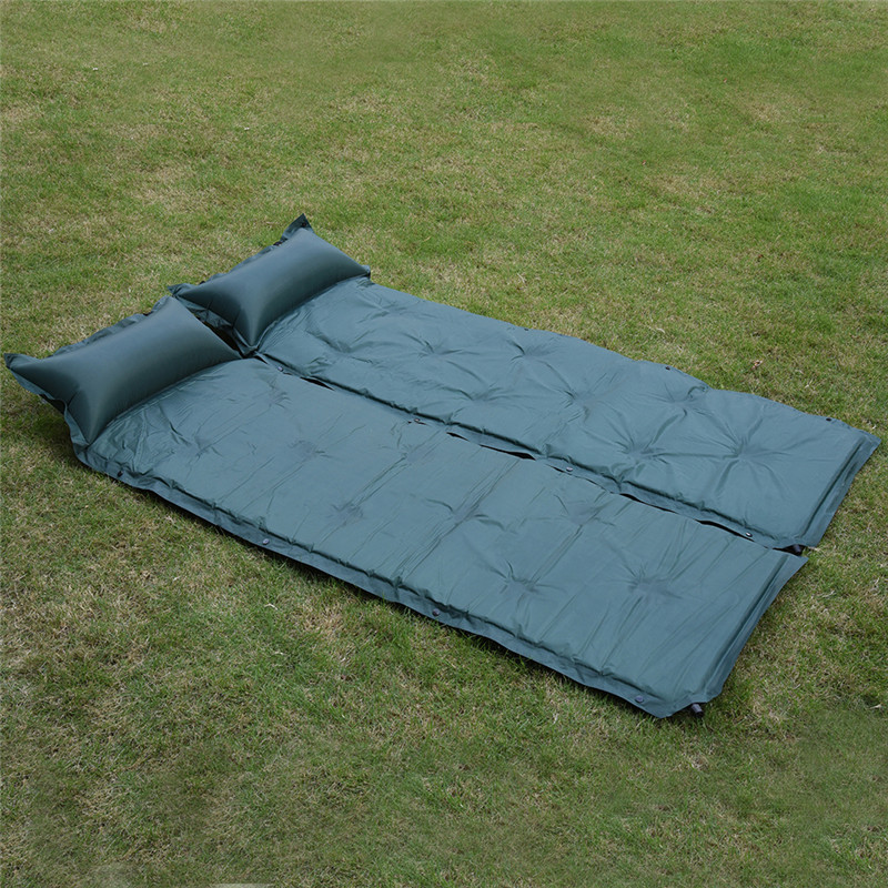 2 Color Outdoor Camping Travelling Automatic Inflatable Cushion <font><b>Air</b></font> Mattress With Pillow,Self-inflating Mat Car Sleeping Bed Pad
