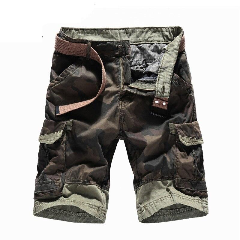 Brand New Men's Camouflage Shorts 2018 Summer 100% Cotton Designer Plus Size Casual Cargo Shorts For Men Boardshort AF5051