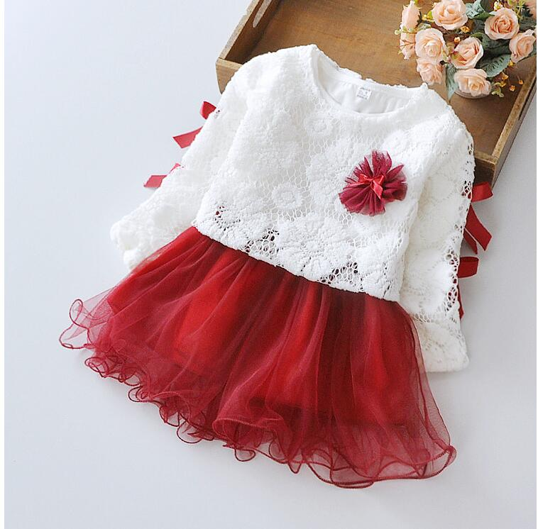 c7d521875 Baby Girls Spring Summer Princess Lace Flower Dresses 2016 New ...