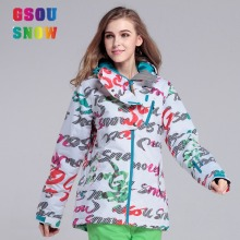 2016 Gsousnow outdoor windproof waterproof breathable snow ski jacket ladies women girls female brands free shipping super deal