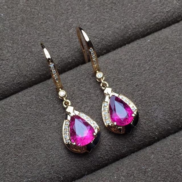 factory wholesale SGARIT brand new fashion 18k real gold Amethyst natural gemstone Imbue Diamond stud earrings jewelry 1