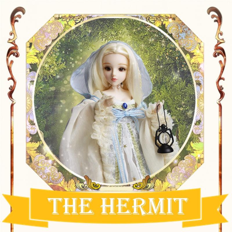 MM girl Major Arcana The Hermit joint body doll golden blonde hair TAROT CARD 34cm East Barbi the classic tarot карты