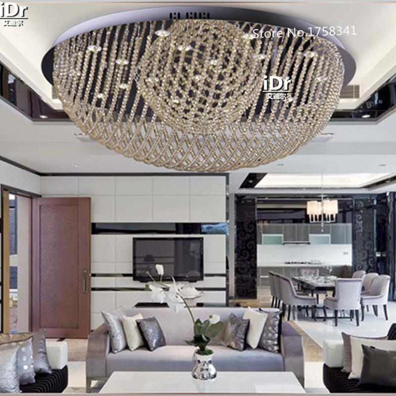 Das Neues Angebot Fashion Runden Led Kristalllampe Wohnzimmer Lampe Schlafzimmer Decke Beleuchtung Halle