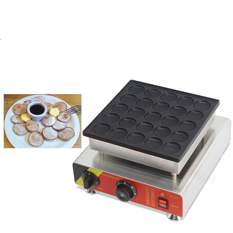 110 v 220 v 25 trous Poffertjes Grill gaufrier néerlandais Mini Machine à crêpes