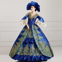 Europese Vintage Hof Jurk Halloween Fancy Dress Make Up Party Cosplay Kleding Koningin Uniformen Formele Event Jurk