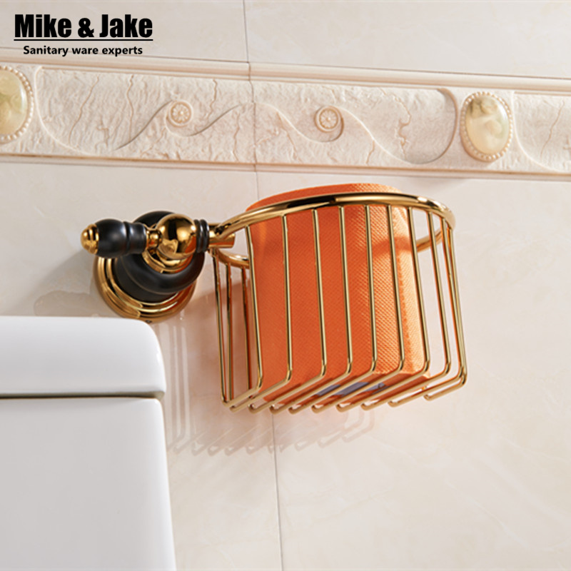 ФОТО Luxury gold brass Toilet Paper basket Holder toilet paper roll Holder,Tissue bumf Holder,Bathroom Accessories Products