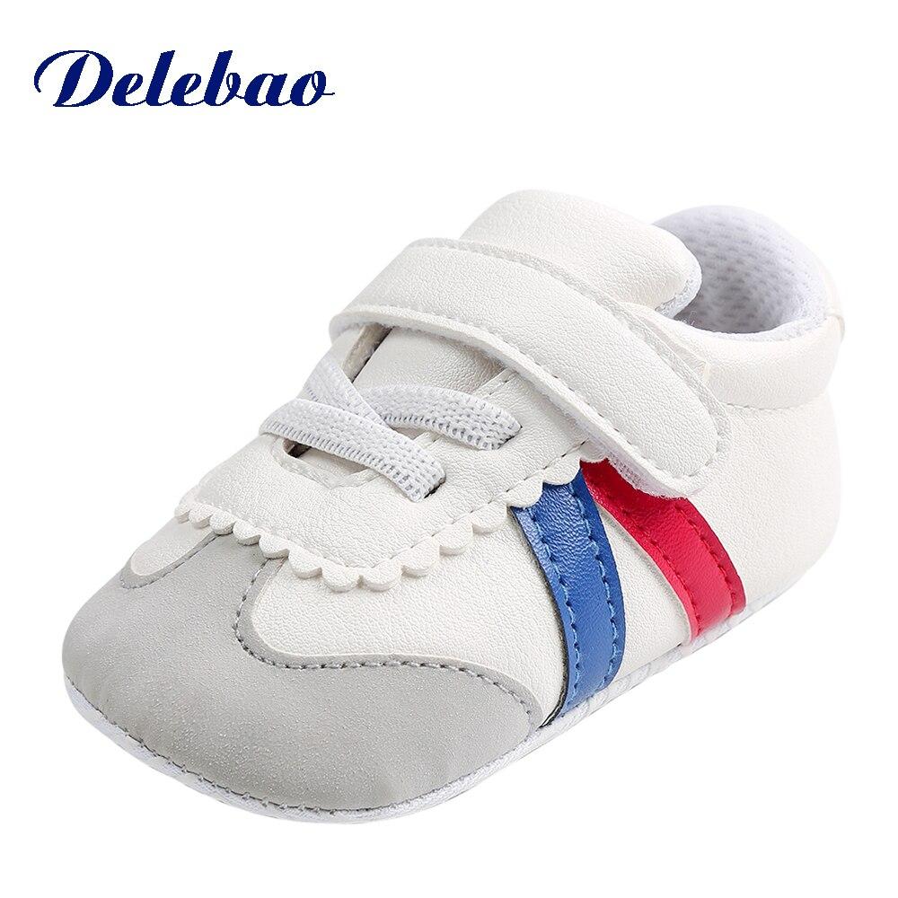 Baby Baby Boy Meisjes Schoenen PU-leer Gestreepte katoenen - Baby schoentjes - Foto 2
