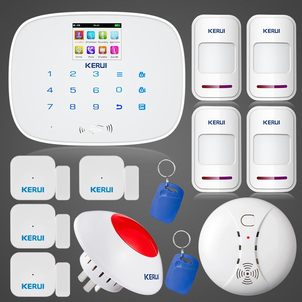 KERUI G19 GSM Alarmas De Seguridad Para Casa Russian English Language Alarme Residencial Suit Wireless 433MHZ Home Alarm System
