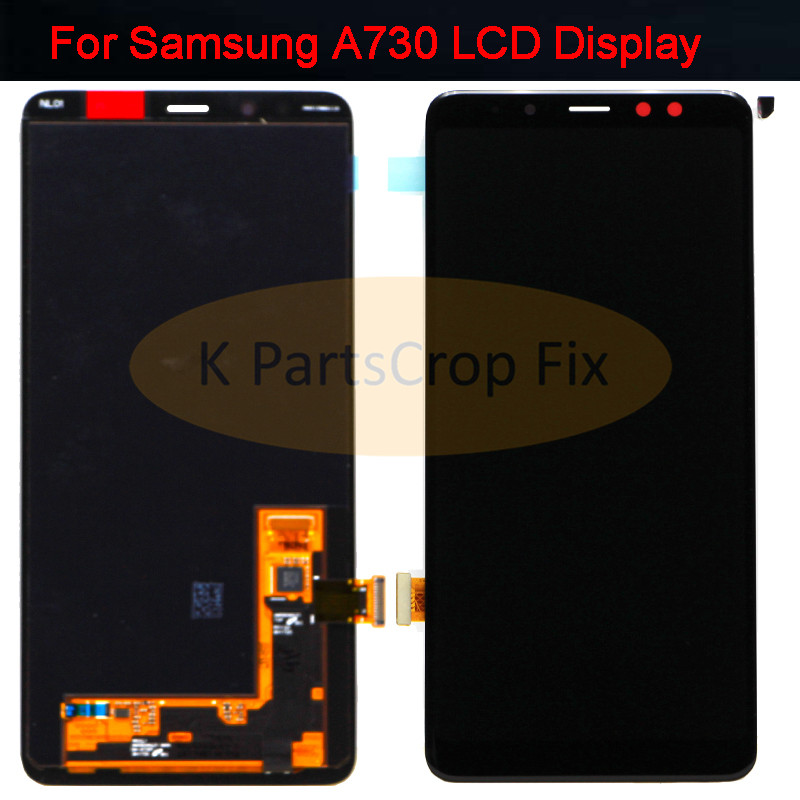 Super AMOLED For SAMSUNG GALAXY A8 plus 2018 lcd A730F LCD Display Touch Screen Digitizer Assembly