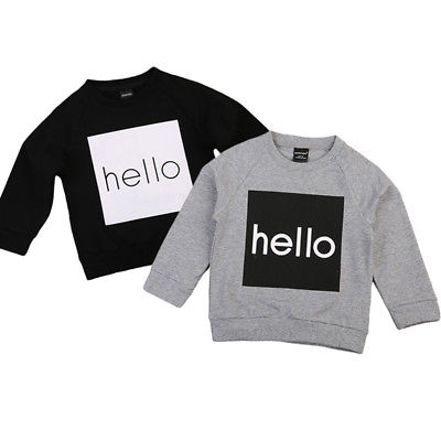 Autumn Winter Toddler Long Sleeve Baby Boy Girl Pullover Warm Hoodies Sweatshirt Clothes Tops