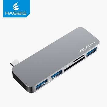 Hagibis USB C hub 5 in 1 converter TYPE-C to SD/TF Card Reader USB 3.0 HUB Adapter high speed for Macbook Pro Huawei Xiaomi air USB Hubs