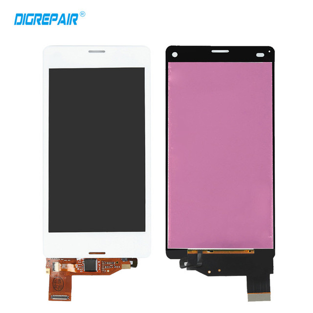"""4.5"""" inch white For Sony Xperia Z3 Mini Compact D5803 D5833 LCD Display Touch Screen Digitizer Free shipping+Tracking No."""