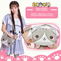 Fashion Cute Neko Atsume Shoulder Bag Anime 3D Cat PU Leather Cross Body Bags Lady Cartoon Handbags