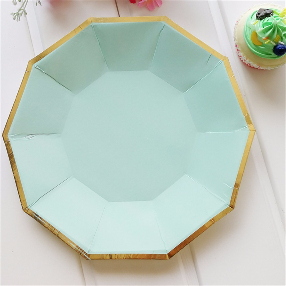 Gold Foil Mint Green Disposable Paper Plates Cups Straws Birthday Wedding Tableware Dessert Plates For Christmas Party Decor-in Disposable Party Tableware ... & Gold Foil Mint Green Disposable Paper Plates Cups Straws Birthday ...