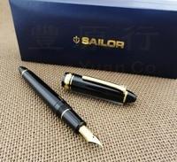 Ofis ve Okul Malzemeleri'ten Dolma Kalemler'de Japonya orijinal Sailor 1521 standart torpido 21k altın dolma kalem ÜCRETSIZ kargo