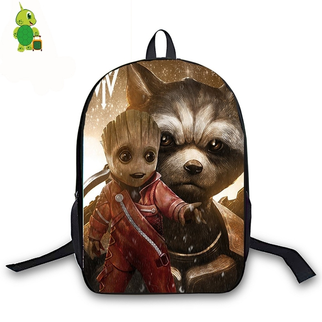 949afe61c6b0 US $17.25 25% OFF|Chibi Rocket Superhero Backpack for Teenage Girls Boys  Book Bag Avengers Women Men Laptop Travel Backpack Children School Bags-in  ...