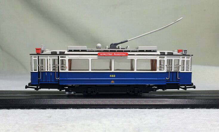 Special offer is rare 1:87 Swiss City 456 1929 simulation static finished train model tram model Collection(China)