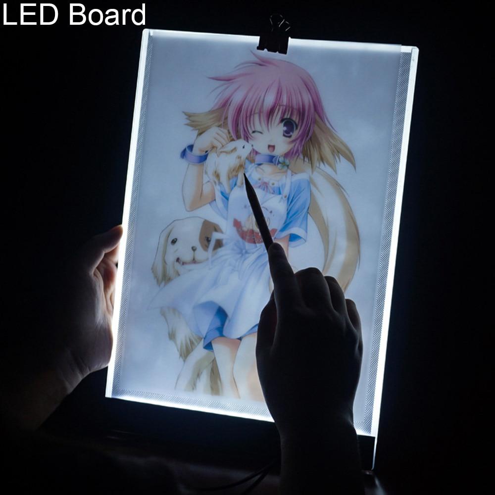 LED Board A4 Kopie Tabelle Ultra-dünne 3,5mm Universal Diamant Malerei Daimond Bild Bord Werkzeuge Zeichnung Pad Zubehör 072XP