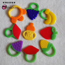 NEW Baby Fruits Teether teething toy kid Rattles child Vegetable Tooth silicone grape banana Training Toddler infant lovely cute(China)
