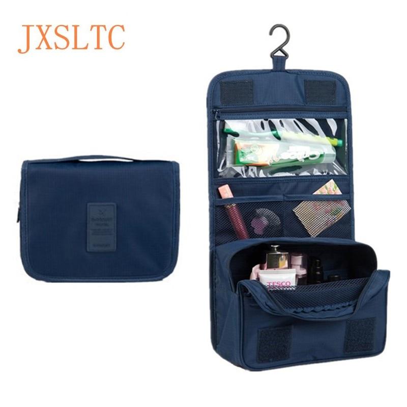 JXSLTC den bærbare kosmetik taske hængende kosmetiske taske organizer til badeværelset simpelt brusebad toiletartikler vask rejsetaske taske